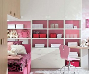 bedroom, fashion, and pink image