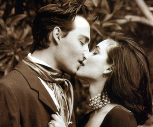 winona ryder, love, and johnny depp image