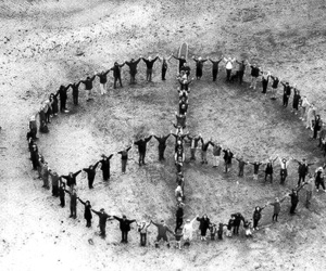 peace, people, and black and white image