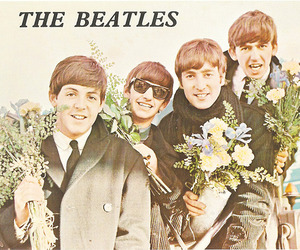 flowers, old, and the beatles image