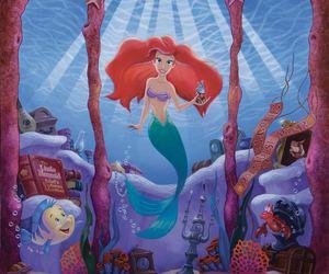 disney, mermaid, and the little mermaid image
