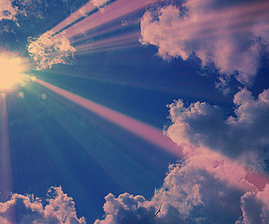sky, sun, and clouds image