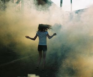 girl and smoke image