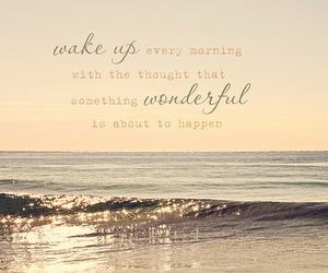 quote, wonderful, and morning image