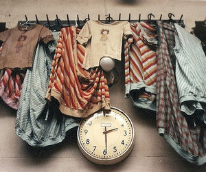 clothes, clock, and vintage image