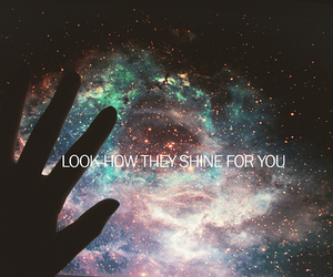 stars, shine, and coldplay image
