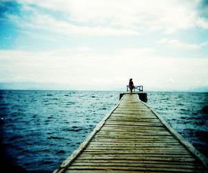 girl, ocean, and love image
