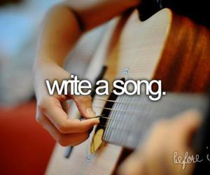 song, before i die, and write image