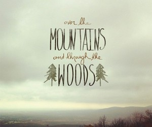 woods, mountains, and quotes image