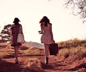 bag, travel, and friends image