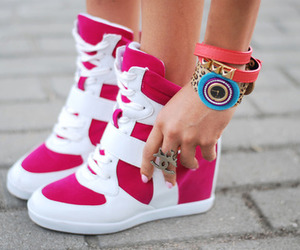 shoes, pink, and sneakers image