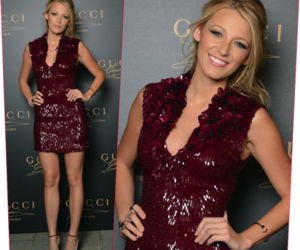 blake lively, gucci, and red image
