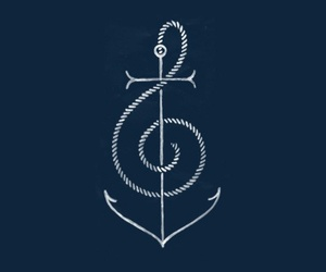 anchor, music, and blue image