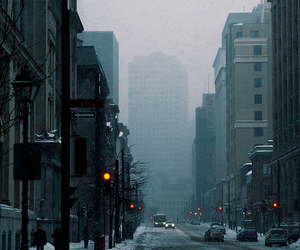 city, winter, and snow image