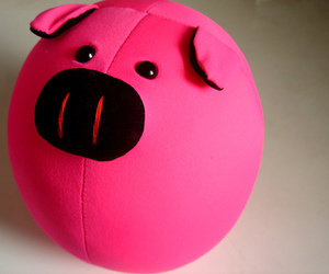 piggy, peluche, and pink image
