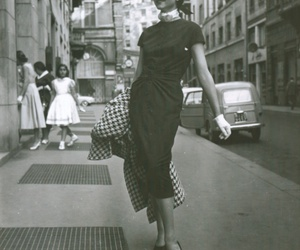 50's, elegance, and black and white image