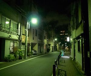 japan, night, and light image