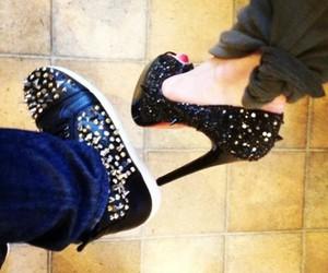 shoes, couple, and fashion image