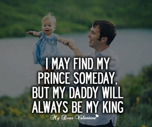 love, daddy, and king image