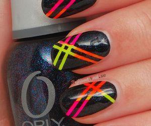 nail art, nails, and neon nails image