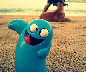 blue, beach, and funny image