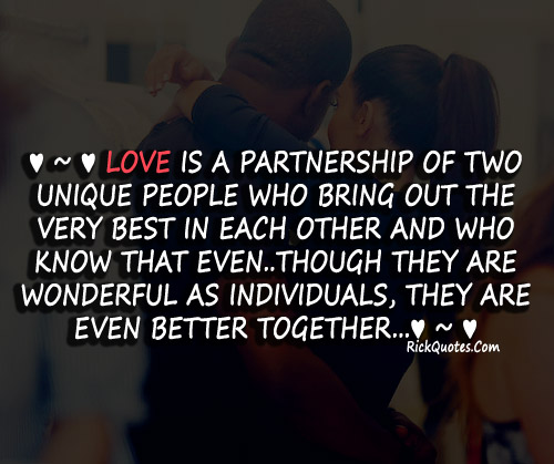 Together Quotes Awesome Together Quotes  Love Is A Partnership On We Heart It