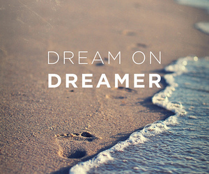 Dream, dreamer, and beach image