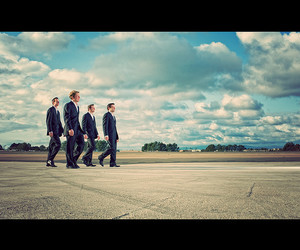 35mm, runway, and suits image