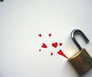 heart, lock, and unlock image
