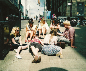 streets, sun, and friends image
