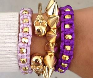 fashion, bracelet, and purple image