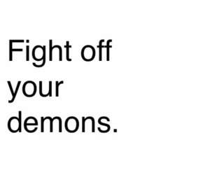black and white, demons, and fight image