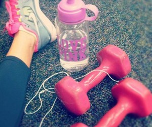 pink, gym, and fit image