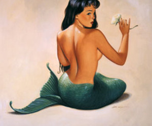 burlesque, Pin Up, and mermaid image