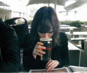 girl, beer, and vintage image
