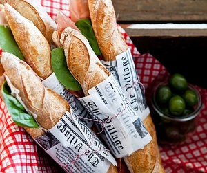 baguette, food, and bread image
