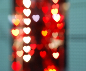 lights, heart, and love image