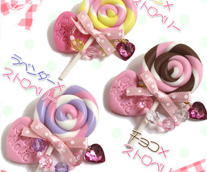 candy, lollipop, and pink image