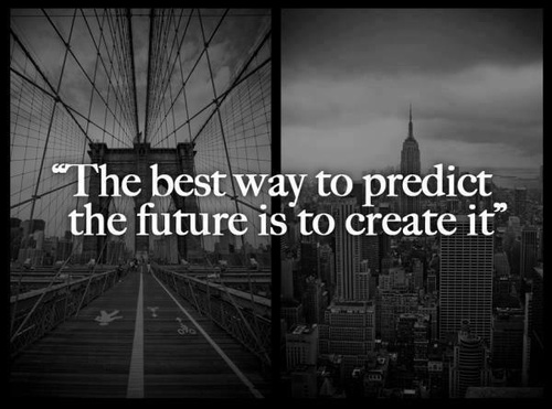 black and white, future, and quote image