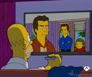 two and a half men, the simpsons, and homer image