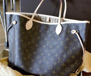 bag, handbag, and LV image