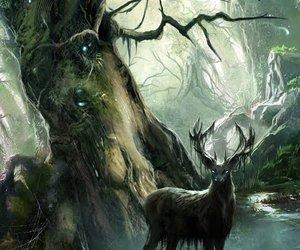 animal, antlers, and art image