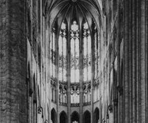 architecture, gothic, and b&w image