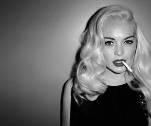 blonde, cigarrette, and sexy image