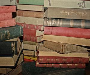 books, collection, and wow image