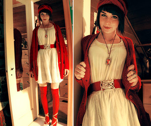 fashion, girl, and red riding hood image