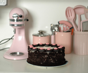 cake, pink, and kitchen image