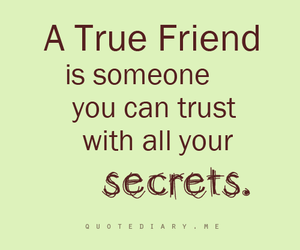 friends, quote, and secret image