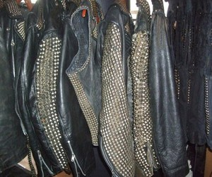 jacket, leather, and studs image