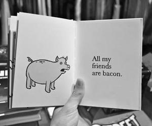 pig, bacon, and book image